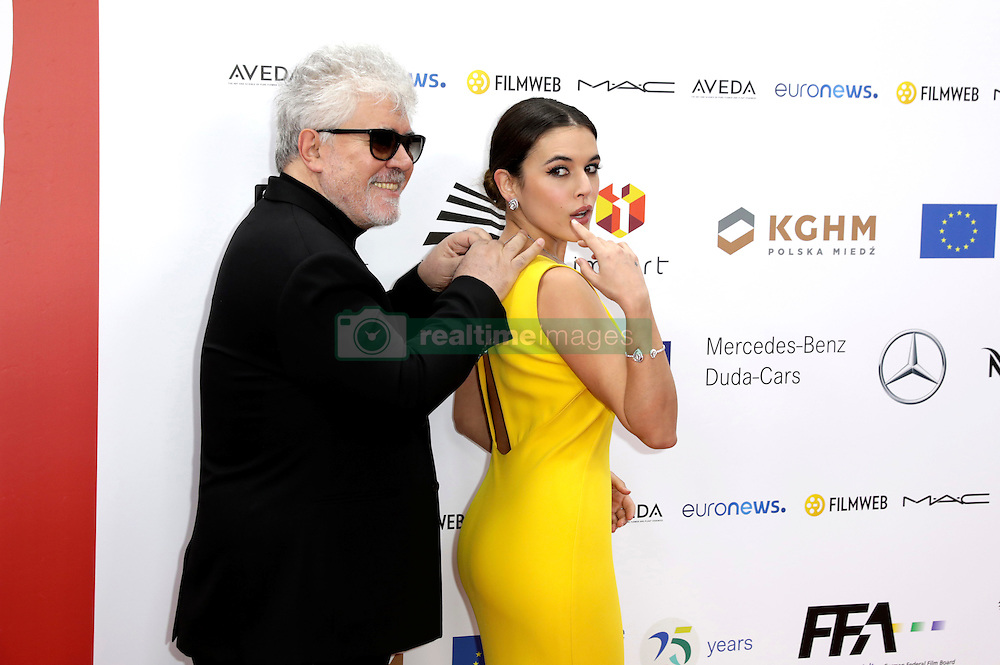 December 10, 2016 - Wroclaw, Lower Silesian, Deutschland - Pedro Almodovar and Adriana Ugarte attend the 29th European Film Awards 2016 at the National Forum of Music on December 10,2016 in Wroclaw, Poland. (Credit Image: © Future-Image via ZUMA Press)