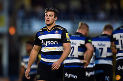 Max Clark of Bath Rugby - Mandatory byline: Patrick Khachfe/JMP - 07966 386802 - 10/10/2015 - RUGBY UNION - The Recreation Ground - Bath, England - Bath Rugby v Exeter Chiefs - West Country Challenge Cup.