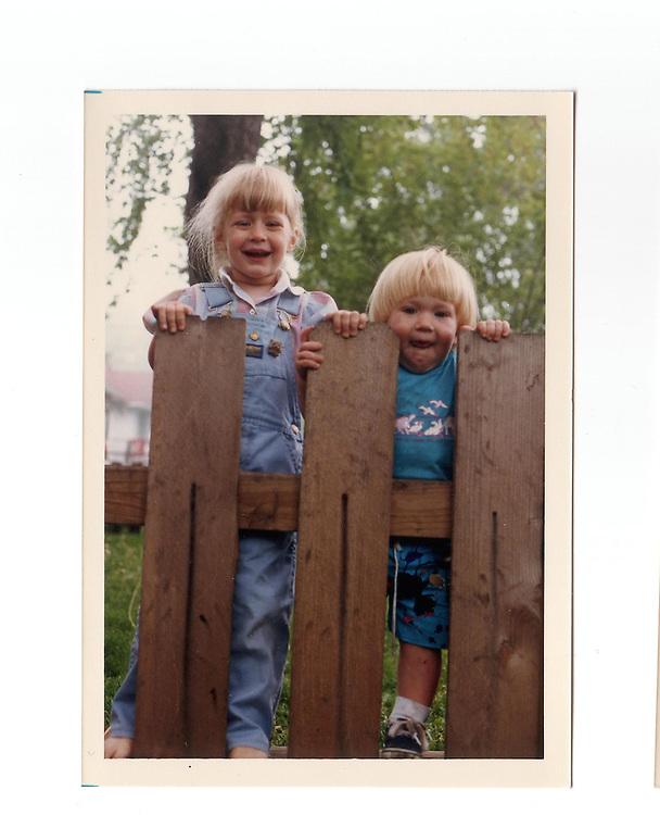 Caroline & Rob through the fence.