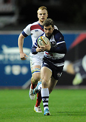 Bristol Rugby fly half, Nicky Robinson - Photo mandatory by-line: Paul Knight/JMP - Mobile: 07966 386802 - 05/12/2014 - SPORT - Rugby - Bristol - Ashton Gate - Bristol Rugby v London Scottish - B&I Cup