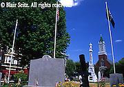 Town center, War Memorial, Carbondale, NE PA