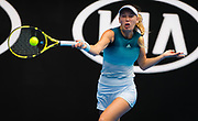 Caroline Wozniacki of Denmark in action during her second-round match at the 2019 Australian Open Grand Slam tennis tournament on January 16, 2019 at Melbourne Park in Melbourne, Australia - Photo Rob Prange / Spain ProSportsImages / DPPI / ProSportsImages / DPPI