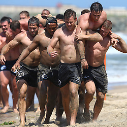 DURBAN, SOUTH AFRICA, December 10. 2015 -General views during The Cell C Sharks Pre Season Beach South Beach training for the 2016 Super Rugby Season . (Photo by Steve Haag)<br /> images for social media must have consent from Steve Haag