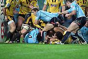 Sitaleki Timani goes close to scoring. Waratahs v Hurricanes. 2012 Super Rugby round 15 match. Allianz Stadium, Sydney Australia on Saturday 2 June 2012. Photo: Clay Cross / photosport.co.nz