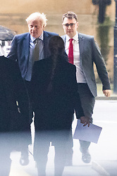 © Licensed to London News Pictures. 08/01/2019. London, UK. Prime Minister Boris Johnson arrives at The Houses of Parliament to take part in PMQs. Photo credit: George Cracknell Wright/LNP