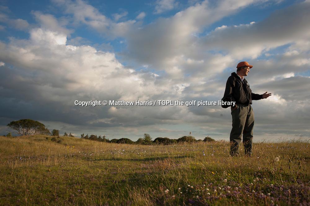 Course architect Tom DOAK (USA) walks The Renaissance Club during summer Gullane,East Lothian,Scotland.