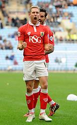 Bristol City's Scott Wagstaff celebrates  - Photo mandatory by-line: Joe Meredith/JMP - Mobile: 07966 386802 - 18/10/2014 - SPORT - Football - Coventry - Ricoh Arena - Bristol City v Coventry City - Sky Bet League One