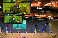 Citizen input during Austin City Council Meeting.
