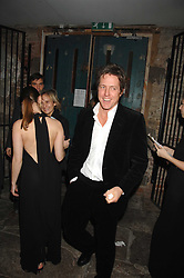 HUGH GRANT at a reception to Discover Wilton's Music Hall held at the hall in Graces Alley, London E1 on 5th December 2007.<br />