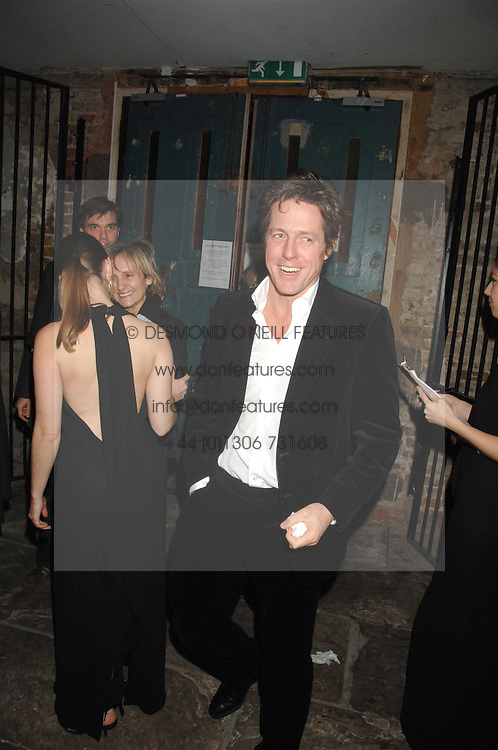 HUGH GRANT at a reception to Discover Wilton's Music Hall held at the hall in Graces Alley, London E1 on 5th December 2007.<br /><br />NON EXCLUSIVE - WORLD RIGHTS