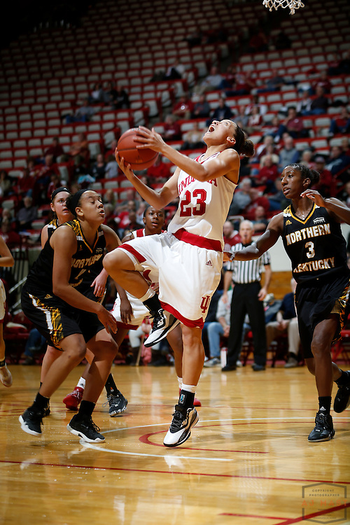 Indiana guard Alexis Gassion (23) in action as Indiana played Northern Kentucky in an NCCA college basketball game in Bloomington, Ind., Thursday, Dec. 8, 2016. (AJ Mast)