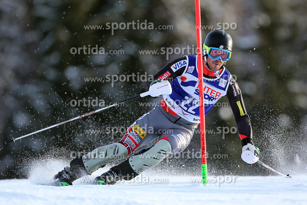 06.01.2014, Stelvio, Bormio, ITA, FIS Weltcup Ski Alpin, Bormio, Slalom, Herren, im Bild David Chodounsky // David Chodounsky  in action during mens Slalom of the Bormio FIS Ski World Cup at the Stelvio in Bormio, Italy on 2014/01/06. EXPA Pictures © 2014, PhotoCredit: EXPA/ Sammy Minkoff<br /> <br /> *****ATTENTION - OUT of GER*****