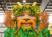 parade float decor; CNA party at Mardi Gras World for meetings inc.