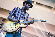 Gary Clark Jr. performs at Lollapalooza in Chicago, IL on August 5, 2012