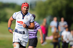 Bristol replacement Flanker James Merriman in action - Photo mandatory by-line: Rogan Thomson/JMP - Tel: Mobile: 07966 386802 01/09/2013 - SPORT - RUGBY UNION - Station Road, Cribbs Causeway, Bristol - Clifton RFC v Bristol Rugby - Pre Season Friendly.