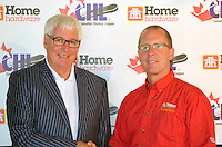 Bruce Hamilton, GM of the Kelowna Rockets and Paul McCann of Home Hardware.