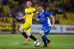 Matic Crnic of NK Domzale during football match between FC Shakhtyor Soligorsk and NK Domzale in first leg match of Second Qualifying Round UEFA Europa league qualifications on July 14, 2016 in Soligorsk, Belarus. Photo by Ziga Zupan / Sportida