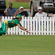 South African fielder Cri-Zelda Brils can't stop a boundary during the South Africa  V New Zealand group A match at Bradman Oval in the ICC Women's World Cup Cricket Tournament, in Bowral, Australia on March 12, 2009. New Zealand won the match by 199 runs. Photo Tim Clayton
