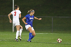 04 November 2016: Kiley Czerwinski(3) & Kasey Wallace(15)  during an NCAA Missouri Valley Conference (MVC) Championship series women's semi-final soccer game between the Indiana State Sycamores and the Illinois State Redbirds on Adelaide Street Field in Normal IL