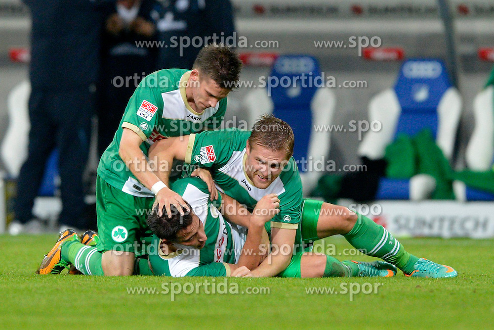 19.10.2012, Rhein Neckar Arena, Sinsheim, GER, 1. FBL, TSG 1899 Hoffenheim vs SpVgg Greuther Fuerth, 08. Runde, im Bild Edgar PRIB SpVgg Greuther Fuerth schiesst Tor Ausgleich zum 2:2 Torjubel, Jubel, Freude, Emotion // during the German Bundesliga 08th round match between TSG 1899 Hoffenheim and SpVgg Greuther Fuerth at the Rhein Neckar Arena, Sinsheim, Germany on 2012/10/19,, , , , . EXPA Pictures © 2012, PhotoCredit: EXPA/ Eibner/ Weber..***** ATTENTION - OUT OF GER *****
