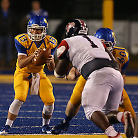 Adam Robison | BUY AT PHOTOS.DJOURNAL.COM<br /> Tupelo back up quarterback Ray Sandroni puts the ball in play late in the first quarter against Soutn Panola.