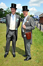 Left to right, brothers LORD CHARLES SPENCER-CHURCHILL and the DUKE OF MARLBOROUGH at at the first day of the 2009 Royal Ascot racing festival on 16th June 2009.