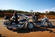 Itatiaiucu_MG, Brasil...Grupo de Motoqueiros que esta cruzando o pais, em Itatiaiucu, Minas Gerais...Group of biker who are crossing the country, in Itatiaicu, Minas Gerais...Foto: LEO DRUMOND / NITRO