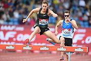 Mason Ferlic (USA) places 13th in the steeplechase in 8:40.74 during the Grand Prix Birmingham in an IAAF Diamond League meet in Birmingham, United Kingdom, Saturday, Aug. 18, 2018. (Jiro Mochizuki/mage of Sport)