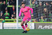 Forest Green Rovers goalkeeper James Montgomery during the EFL Sky Bet League 2 match between Forest Green Rovers and Morecambe at the New Lawn, Forest Green, United Kingdom on 17 November 2018.