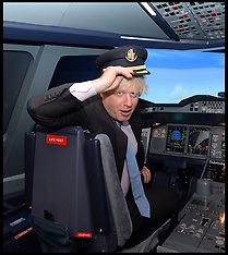 JULY 05 2013 Boris Johnson Opening of The Emirates Aviation Experience