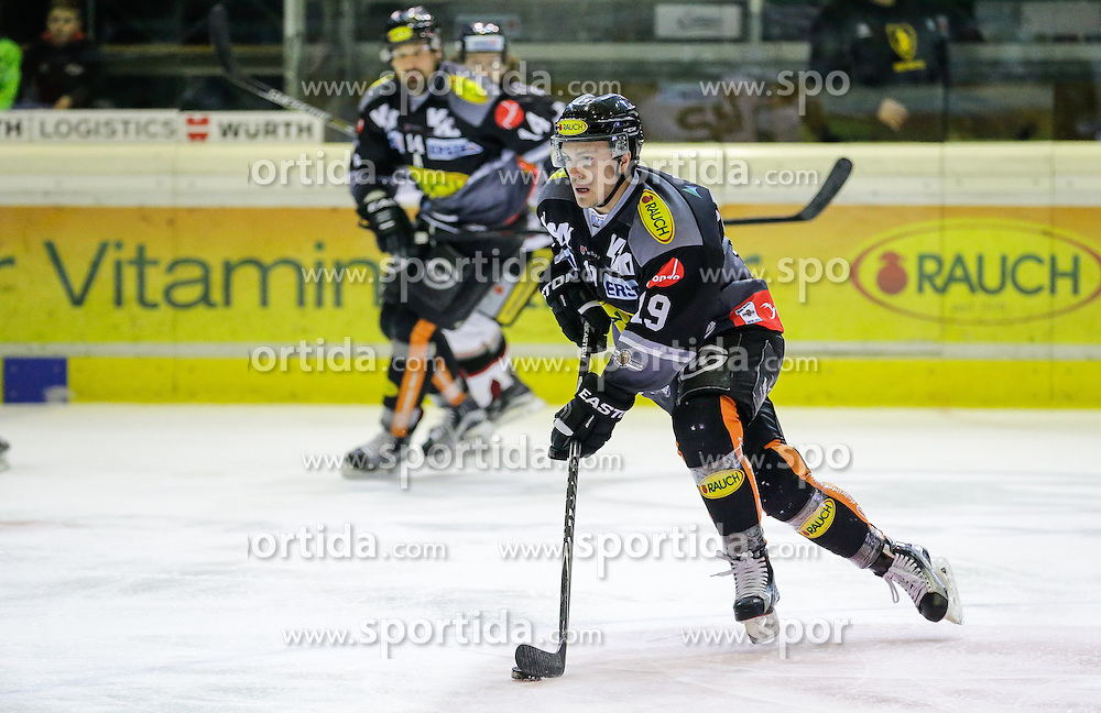 28.02.2016, Messestadion, Dornbirn, AUT, EBEL, Dornbirner Eishockey Club vs HC Orli Znojmo, Viertelfinale, 2. Spiel, im Bild Dustin Sylvester, (Dornbirner Eishockey Club, #19)// during the Erste Bank Icehockey League 2nd quarterfinal match between Dornbirner Eishockey Club and HC Orli Znojmo at the Messestadion in Dornbirn, Austria on 2016/02/28, EXPA Pictures © 2016, PhotoCredit: EXPA/ Peter Rinderer