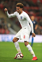 England's Dele Alli in action during the International Friendly at Wembley Stadium, London. PRESS ASSOCIATION Photo. Picture date: Thursday November 15, 2018. See PA story SOCCER England. Photo credit should read: Mike Egerton/PA Wire. RESTRICTIONS: Use subject to FA restrictions. Editorial use only. Commercial use only with prior written consent of the FA. No editing except cropping.