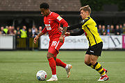 Josh Koroma of Leyton Orient (19) in action during the Vanarama National League match between Harrogate Town and Leyton Orient at Wetherby Road, Harrogate, United Kingdom on 22 September 2018.