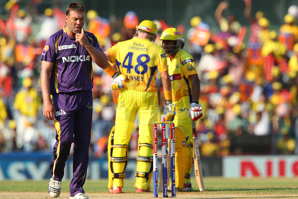 Jacques Kallis walks back during match 38 of the Pepsi Indian Premier League between The Chennai Superkings and the Kolkata Knight Riders held at the MA Chidambaram Stadiumin Chennai on the 28th April 2013..Photo by Ron Gaunt-IPL-SPORTZPICS   .. .Use of this image is subject to the terms and conditions as outlined by the BCCI. These terms can be found by following this link:..http://www.sportzpics.co.za/image/I0000SoRagM2cIEc