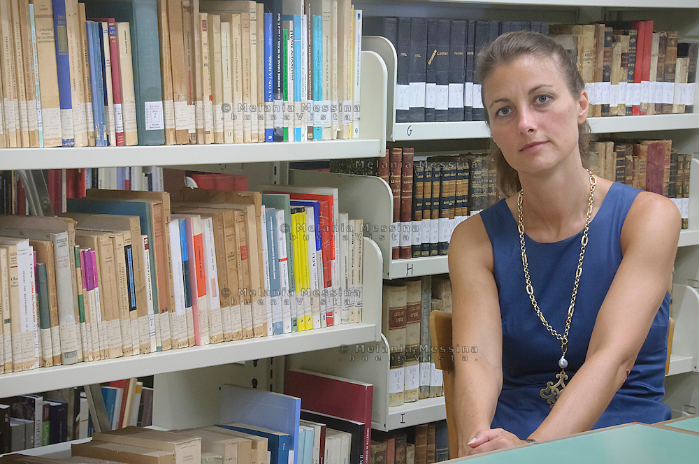 Palermo, biblioteca del centro studi dei gesuiti &quot;Istituto Arrupe&quot;: la direttrice Nicoletta Purpura <br />