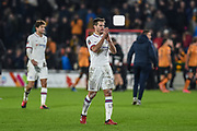 Captain Cesar Azpilicueta (28) of Chelsea FC claps towards his fans after the The FA Cup match between Hull City and Chelsea at the KCOM Stadium, Kingston upon Hull, England on 25 January 2020.