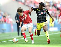 Bristol City's Luke Freeman battles for the ball with Walsall's Romaine Sawyers  - Photo mandatory by-line: Joe Meredith/JMP - Mobile: 07966 386802 - 22/03/2015 - SPORT - Football - London - Wembley Stadium - Bristol City v Walsall - Johnstone Paint Trophy Final