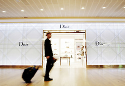 Heathrow Airport, Terminal 3, Dior retail shoot