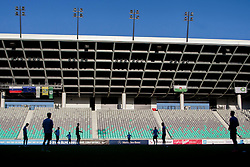 Silhouettes of players during practice session of Slovenian National Football Team before Euro 2016 Qualifications match against Switzerland, on September 1, 2015 in SRC Stozice, Ljubljana, Slovenia. Photo by Urban Urbanc / Sportida