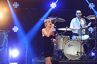 Wolf Alice performing after winning