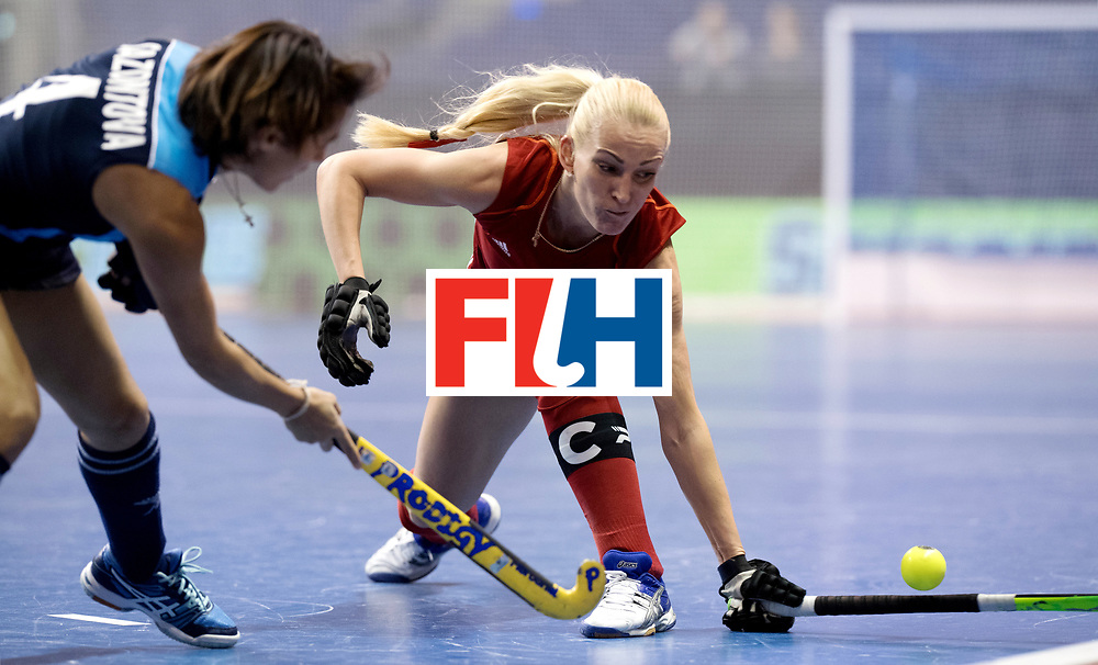 BERLIN - Indoor Hockey World Cup<br /> Women: Kazakhstan - Belarus<br /> foto: BATURA Ryta.<br /> WORLDSPORTPICS COPYRIGHT FRANK UIJLENBROEK