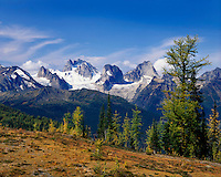 Bugaboo Mountains in the Purcell Range British Columbia Canada