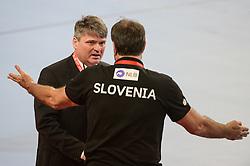 Veselin Vujovic, head coach of Slovenia during handball match between National teams of Slovenia and Denmark on Day 2 in Main Round of Men's EHF EURO 2018, on January 19, 2018 in Arena Varazdin, Varazdin, Croatia. Photo by Mario Horvat / Sportida