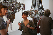 Emma Puntis and Jodie Carey, Anticipation.- Produced by Flora Fairbairn. Curated by Kay Saatchi and Catriona Warren. 111 Great Titchfield St. London W1. 23 May 2007.  -DO NOT ARCHIVE-© Copyright Photograph by Dafydd Jones. 248 Clapham Rd. London SW9 0PZ. Tel 0207 820 0771. www.dafjones.com.