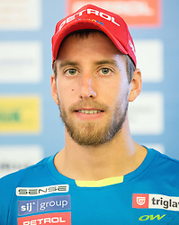 Lenart Oblak during official presentation of the outfits of the Slovenian Ski Teams before new season 2015/16, on October 6, 2015 in Kulinarika Jezersek, Sora, Slovenia. Photo by Vid Ponikvar / Sportida