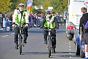Portsmouth Police patrol the roads during The Great South Run in Southsea, Portsmouth, United Kingdom on 23 October 2016. Photo by Jon Bromley.