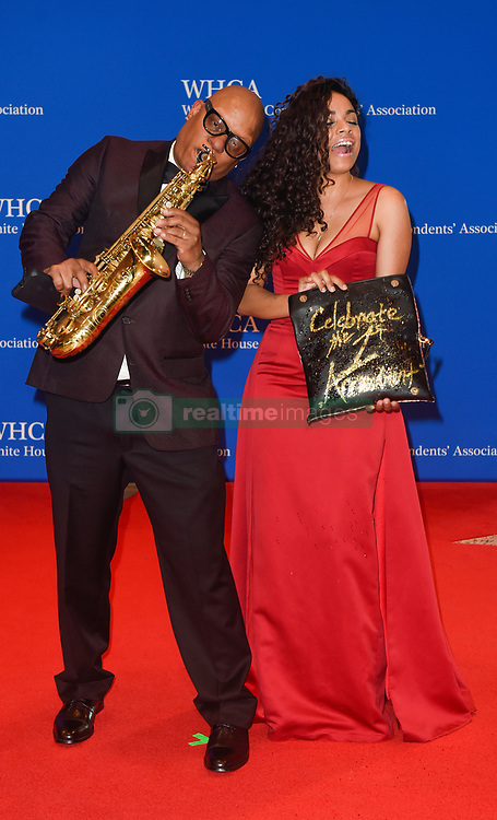 Musician Ski Johnson (L) and guest arrive for the White House Correspondents' Association (WHCA) dinner in Washington, D.C., on Saturday, April 29, 2017 (Photo by Riccardo Savi)  *** Please Use Credit from Credit Field ***