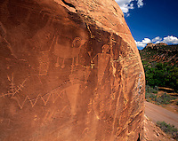 AA03475-02...COLORADO - Petroglyphs along the Tilted Rocks Auto Tour in Dinosaur National Monument.
