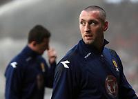 Scotland v Iceland<br /> World Cup Qualifier<br /> Hampden Park / BT Stadium<br /> Glasgow<br /> <br /> McGregor with Ferguson in background<br /> 1st April 2009<br /> <br /> <br /> <br /> <br /> Ian MacNicol<br /> 07949 850 537<br /> ian_mac1966@yahoo.com<br /> www.ianmacnicolimages.co.uk