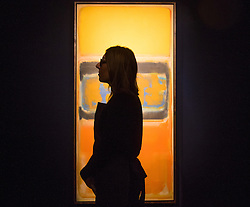 Christie's, London, March 3rd 2017. PICTURED: Mark Rothko's 'No.1', painted in 1949, which is expected to fetch between £8-12 million. . Fine art auctioneers Christies hold a press preview for their Post-War and Contemporary Art auctions to be held on March 7th and 8th.